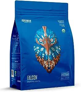 Birdman Falcon Protein Proteina Vegetal USDA Organica En Polvo (Vegana), 22gr proteina, Sin inflamacion, Sin acne, 60 Porciones Sabor Chocolate 1.8kg
