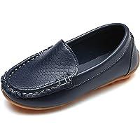 Chicos Niños Plano Tacón Comodidad Cuero Ponerse Mocasines Zapatos