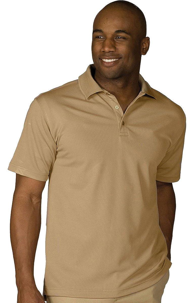 Edwards Garment Mens Dry-Mesh Hi-Performance Wrinkle Resistant Polo Shirt