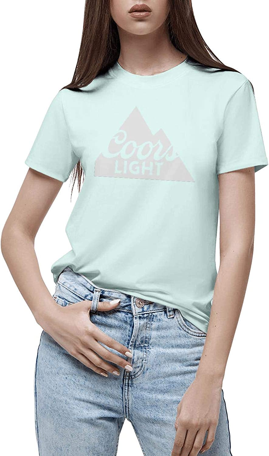 Loose Short Sleeves Classic Shirts Womens Art-coors-Light-Sign