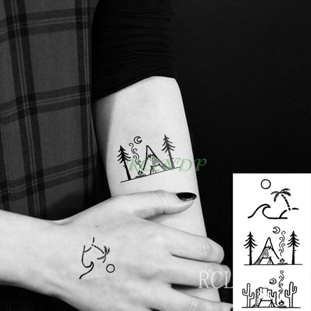 tzxdbh Etiqueta engomada del Tatuaje 3Pcs-Waterproof, Nota Musical ...