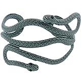 Rosemarie Collections Women's Serpentine Adjustable Metal Cuff Bracelet