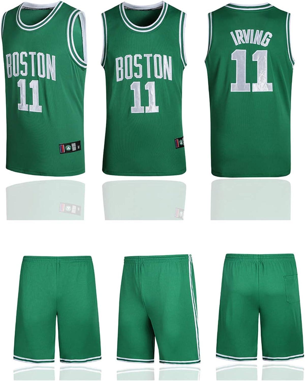 in rete Tuta da basket da uomo in tessuto traspirante e ad asciugatura rapida Jayson Tatum Boston Celtics top + pantaloncini colore neutro