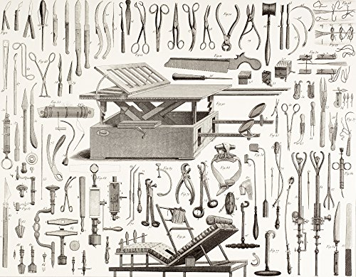 Posterazzi 19Th Century Surgical Instruments. Poster Print (16 x 13)