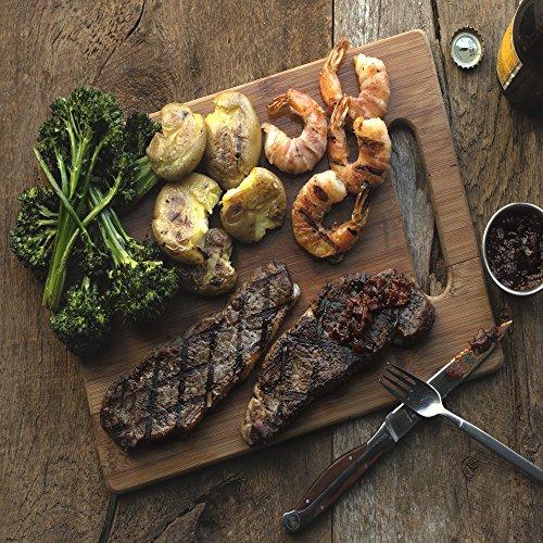 Grilled New York Steak & Jumbo Pancetta Shrimp by Chef'd (Dinner for 4) (Wine For Steak Dinner)