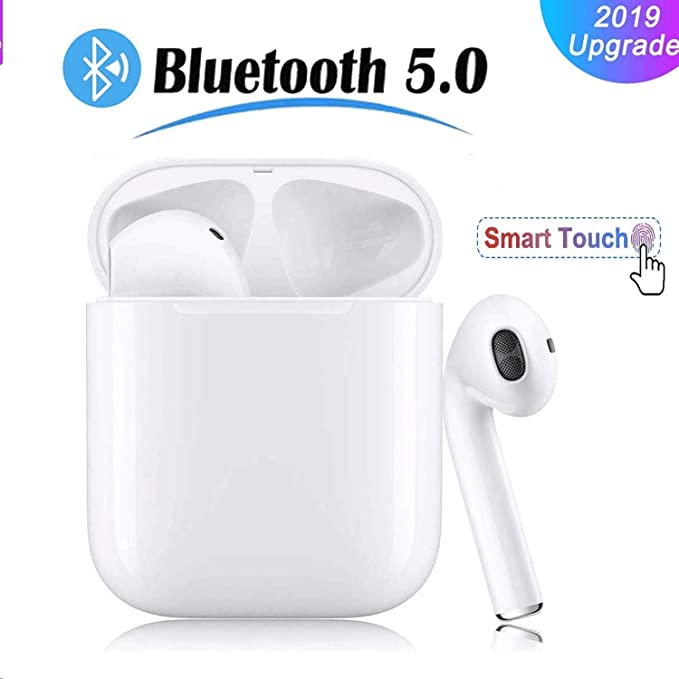 Touch-Control Bluetooth Kopfh/örer Wireless Earbuds Kabellos Bluetooth 5.0 Headset Sport in Ear Kabellose Ohrh/örer ikrofon f/ür iPhone Android usw