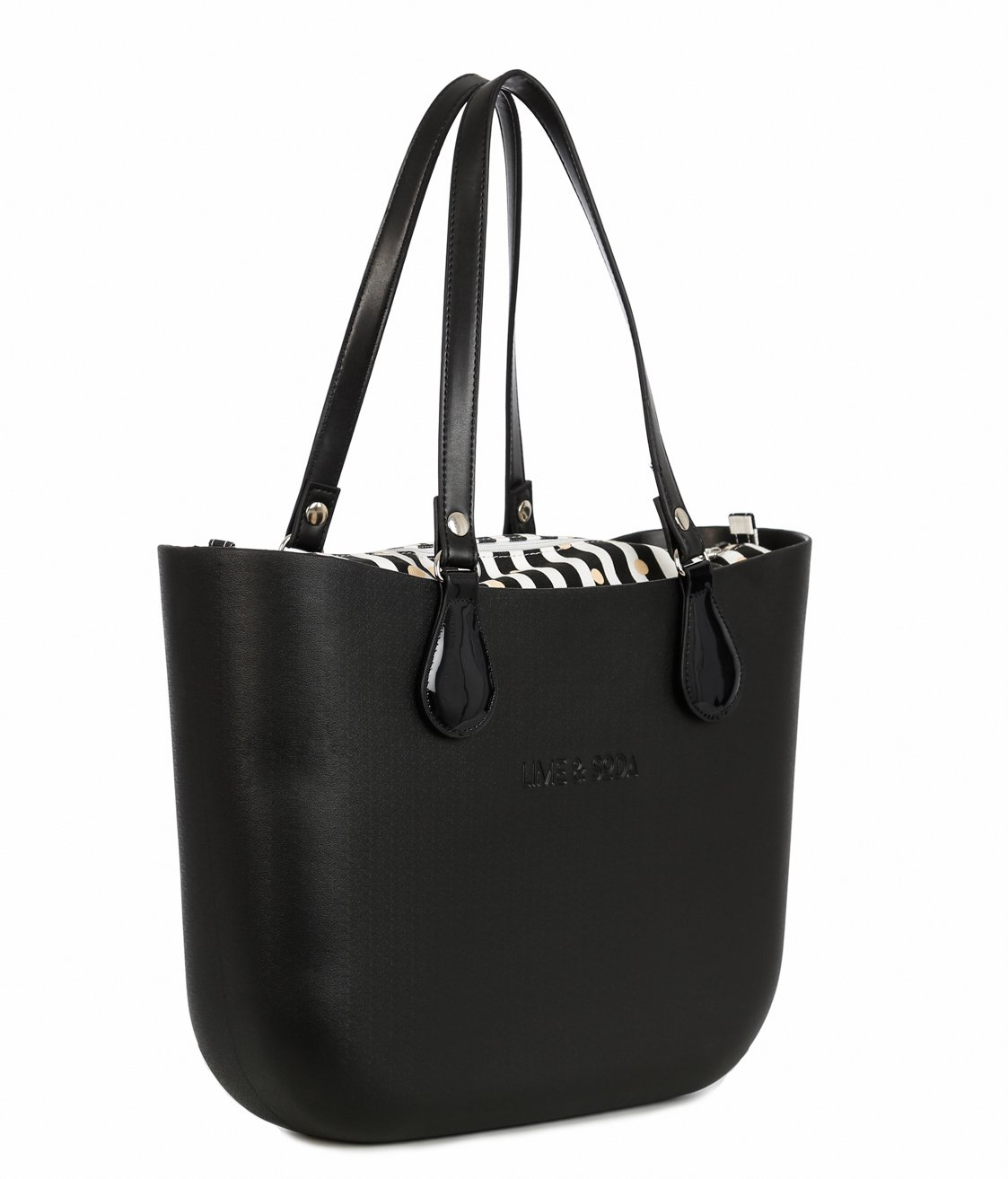 Lime & Soda Women's Fashion Eva Handbag - Simil Leather Handles - Mix & Match to find your style (Black Special 2)