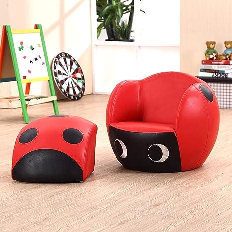 Amazon.com: Silla infantil con otomán, sofá individual para ...