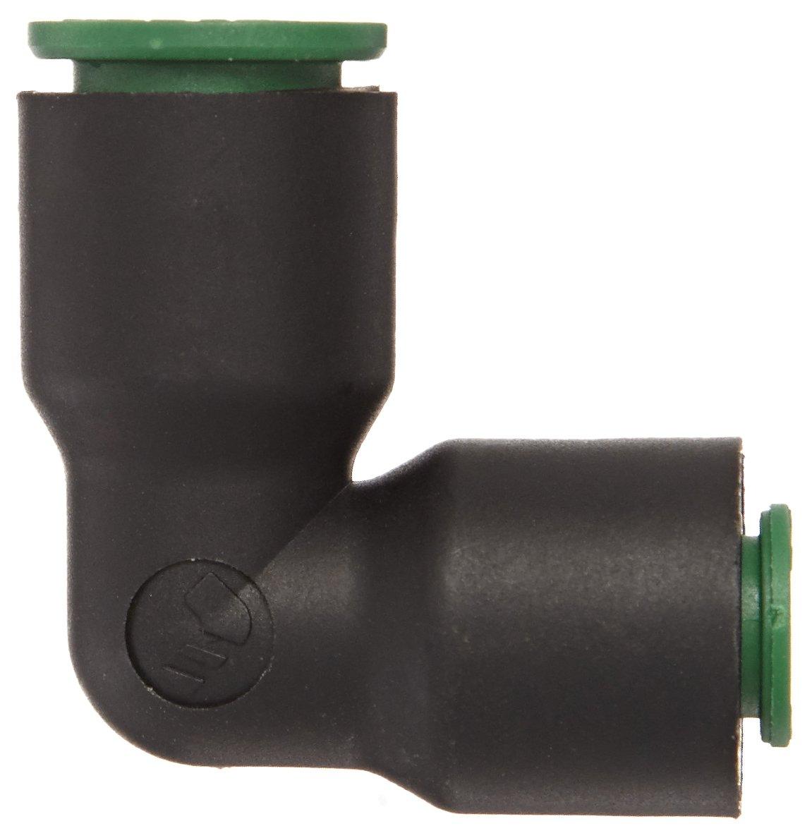 90 Degree Union Elbow 1//2 Tube OD Legris 3102 62 00 Nylon Push-to-Connect Fitting