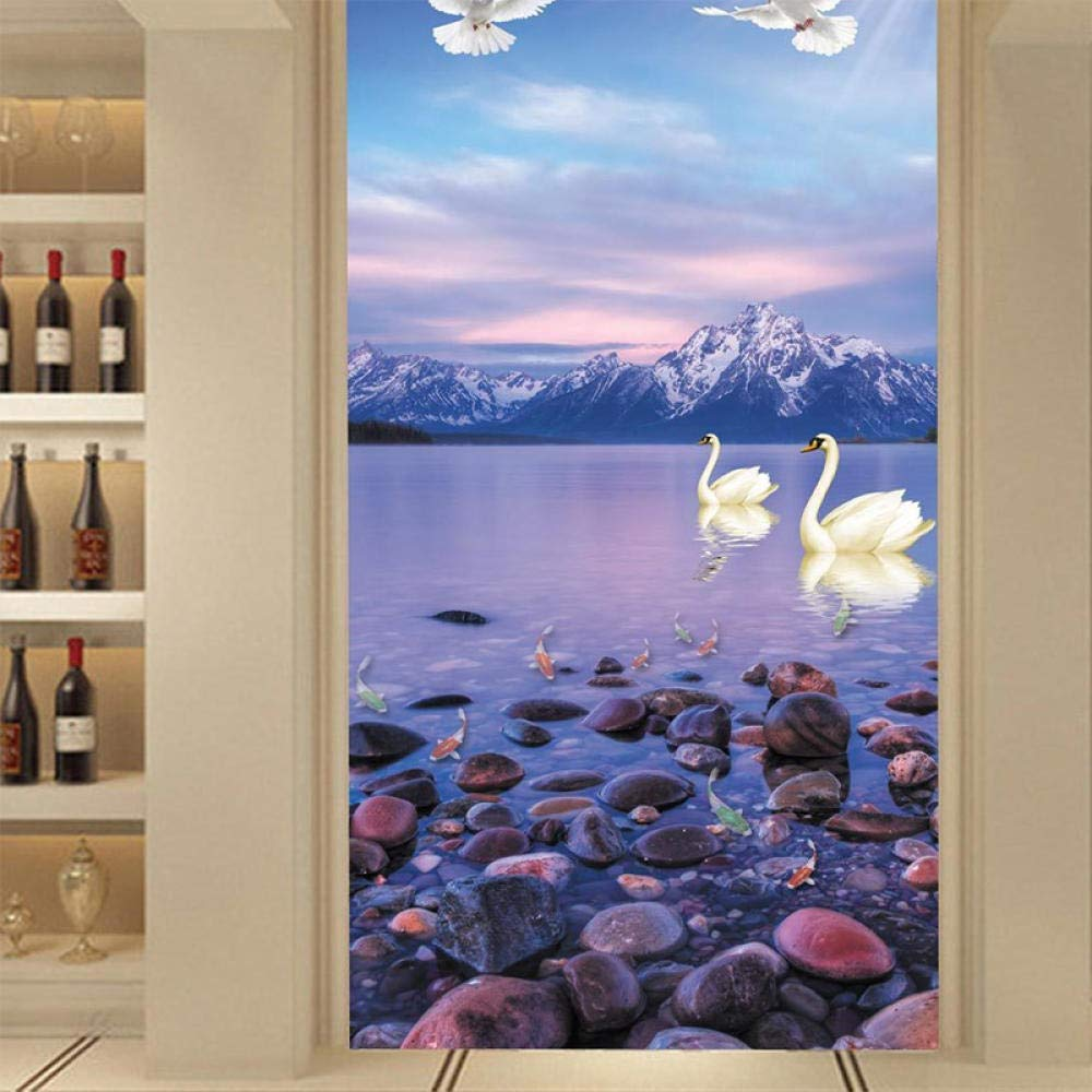 Stickers muraux 3D Papiers peints Photo darrière-plan de salon non-tissé naturel à grande échelle beau paysage de bord de mer naturel 350x256cm Ameublement et décoration