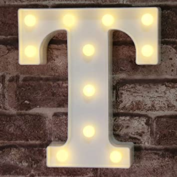 LED Marquee Letter Lights Alphabet Light Up Sign for Wedding Home Party Bar E
