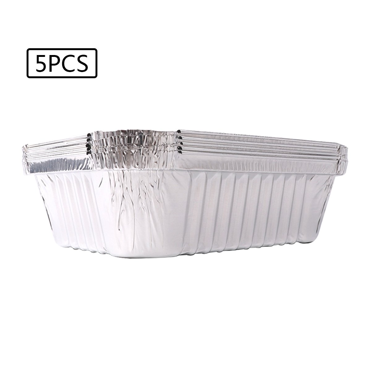 CHICTRY Disposable Barbecue Drip Pans Aluminum Foil Food Containers BBQ Drip Pan Trays Tin Liners for Grease Catch Pans Without Cover 10Pcs One Size