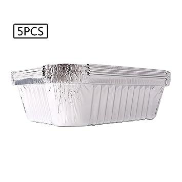 Diverse uso barbacoa parrilla bandeja de goteo bandejas de aluminio con revestimiento para grasa Catch pasteles