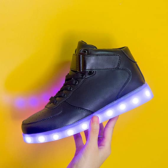 Amazon.com: Dreamyth Unisex Sport Lace-Up Shoes Neutral Led Luminous Shoe USB Charging Light Up Sole Glowing Shoe Running Shoes: Sports & Outdoors