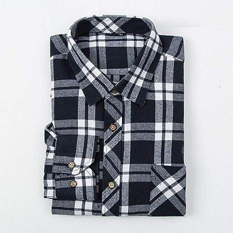 YAYLMKNA Camisa Camisa De Tela Escocesa para Hombre Camisa De Hombre Slim Fit Soft Spring Hombre Camisas De Manga Larga para Hombres De Negocios Talla Grande, 4XL: Amazon.es: Deportes y aire libre
