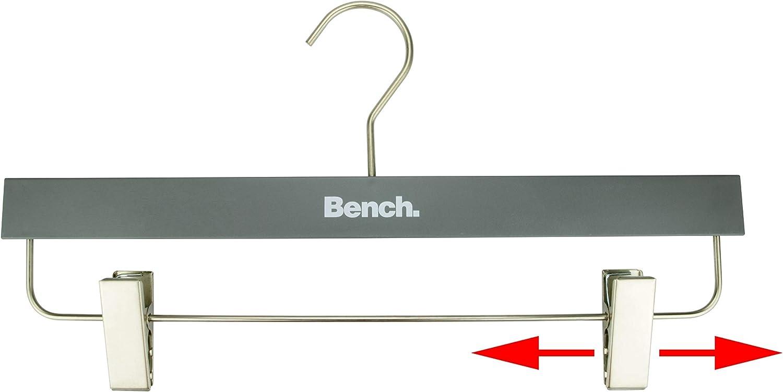 Gris avec crochets rotatifs et pinces coulissantes CORTEC Bench Lot de 5 cintres pour pantalons//jupes en plastique de haute qualit/é
