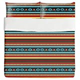 Persian Kilim Duvet Bed Set 3 Piece Set Duvet Cover - 2 Pillow Shams - Luxury Microfiber, Soft, Breathable