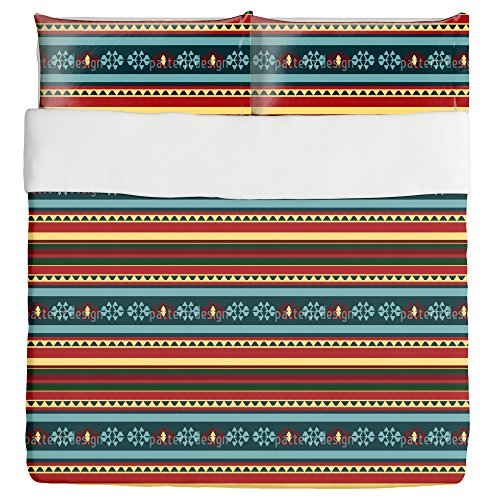 Persian Kilim Duvet Bed Set 3 Piece Set Duvet Cover - 2 Pillow Shams - Luxury Microfiber, Soft, Breathable by uneekee