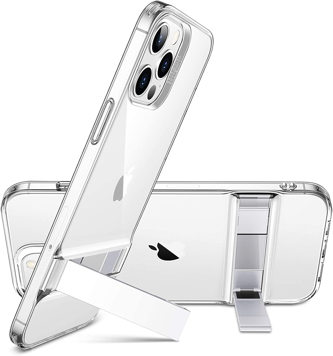 ESR Metal Kickstand Compatible with iPhone 12 Case/iPhone 12 Pro Case [Patented Design] [Two-Way Stand] [Reinforced Drop Protection] Flexible TPU Soft Back for 2020 6.1-Inch – Clear: Electronics