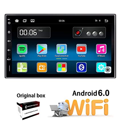 Ezonetronics Android 6 0 Double Din Car Stereo with Navigation FM/AM Touch  Screen Radio with Bluetooth GPS Navigation USB SD Mirro Link Player 1G DDR3