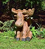 All Weather Resin Outdoor Moose Birdbath 17.25 L x 15.25 W x 22.75 H