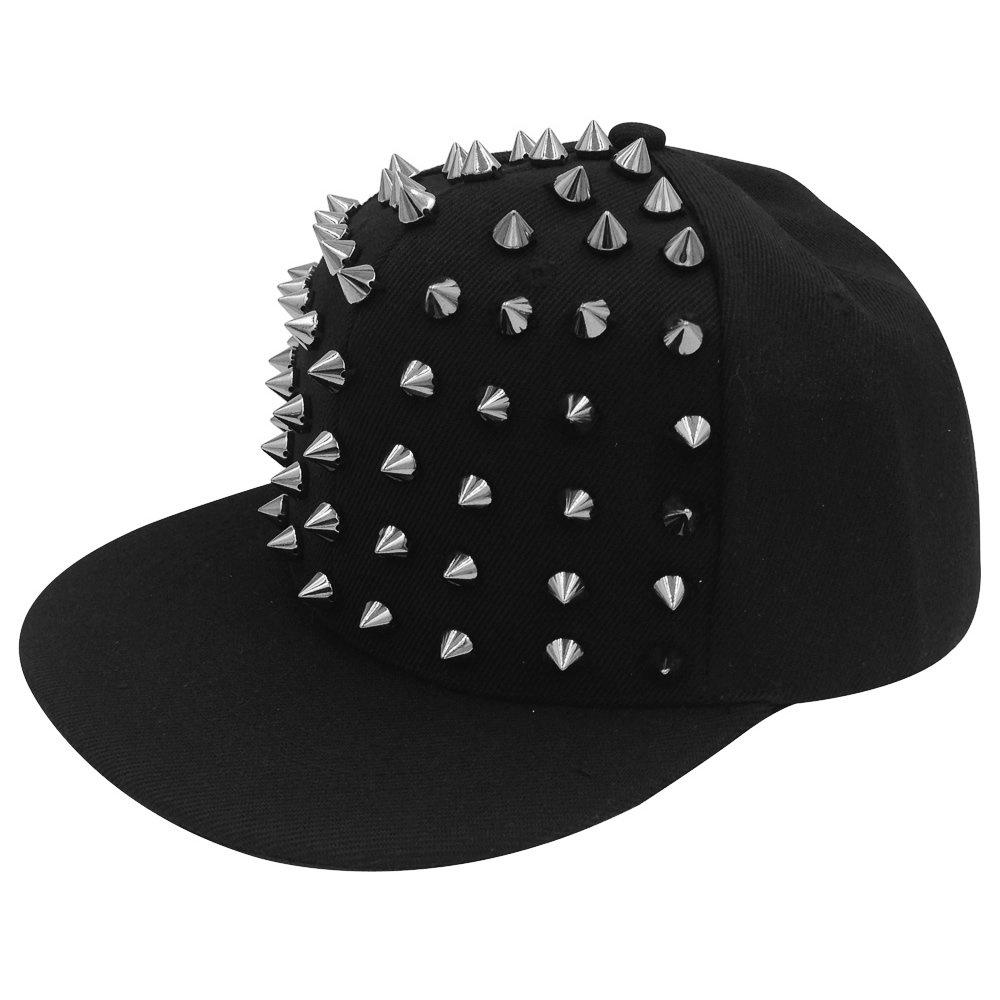 AStorePlus Punk Studded Hip-hop Snapback Cap Spike Rivet Spiky Studs Baseball  Hat 40203bd9a50f