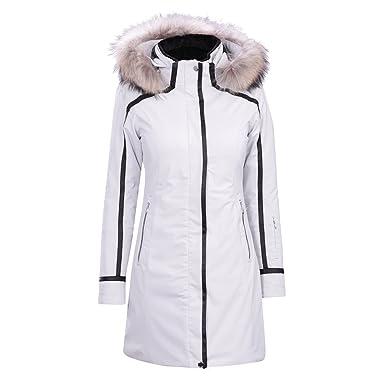 16ae18a66e Amazon.com  Descente Ruby Coat with Real Fur Trim Womens  Clothing