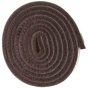 "Self-Stick Heavy Duty Felt Strip Roll for Hard Surfaces (1/2"" x 60""), Walnut Brown"