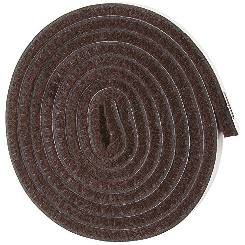 Self-Stick Heavy Duty Felt Strip Roll for Hard Surfaces (1/2