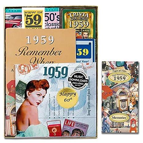 Amazon.com: Regalo de cumpleaños con motivo de los 60 ...