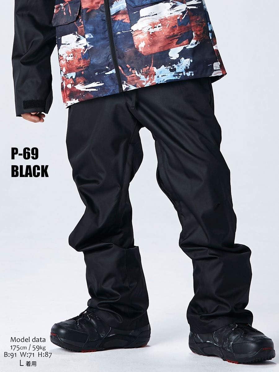 スノーボード ウェア メンズ パンツ 全9カラー XXS~XLサイズ スノボウェア メンズ レディース 18-19 le-Rhythm リアリズム スタンダード/アシンメトリー 選べる2タイプ 2P69-2P77 [P-69]ブラック XS(レディースM)