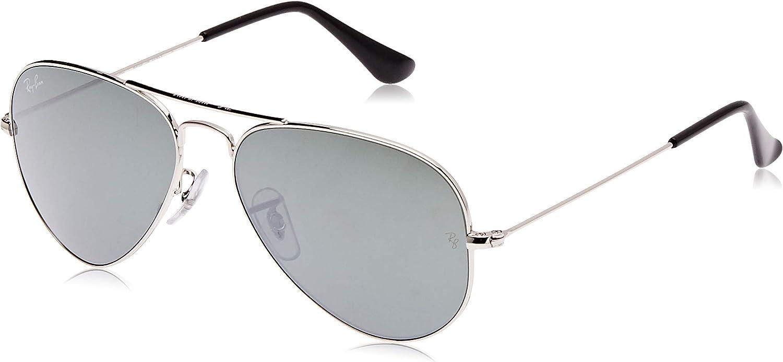 Ray-Ban Aviator Gafas de sol, Arista, 62 Unisex-Adulto