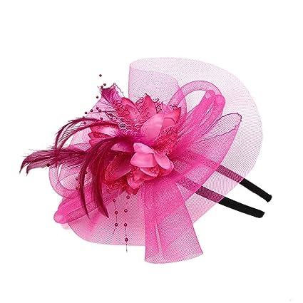 95227d924a035 Amazon.com: Sttech1 Wedding Party Hat, Vintage Mesh Net Fascinator ...
