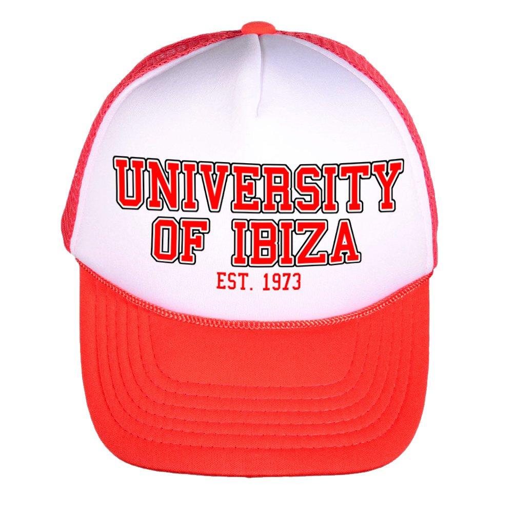 University of Ibiza Gorra de Camionero con Logo Vintage - Dorado ...