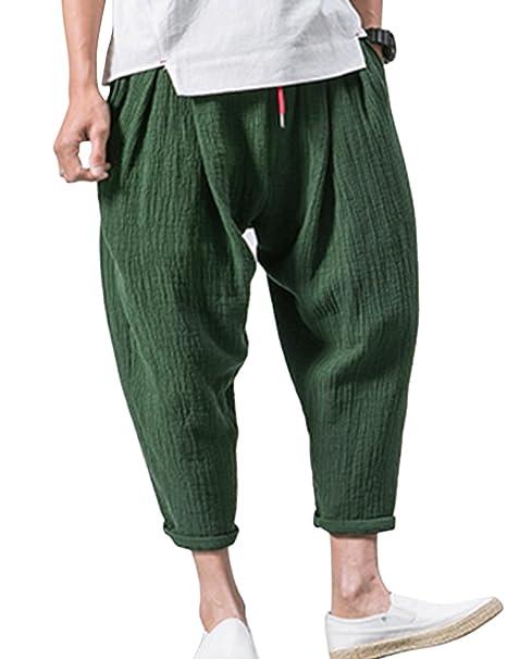 Amazon.com: Lentta - Pantalón para hombre de verano con ...