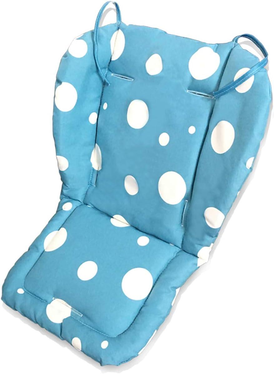 Fitzulam Cochecito Cojín Impermeable Trona de Bebé Sillón Acolchado Niño Asiento de Coche Infantil Almohadilla Transpirable Cochecito Transpirable Almohadilla Cochecito Infantil (Azul)