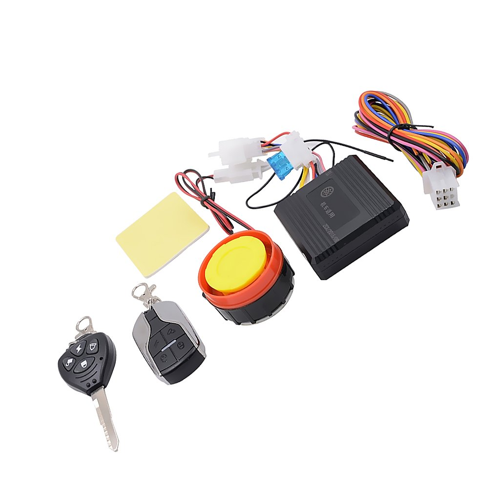 MagiDeal Kit de Alarma Dispositivo Antirrobo Luces Intermitentes de Advertencia de Seguridada para Motocicleta