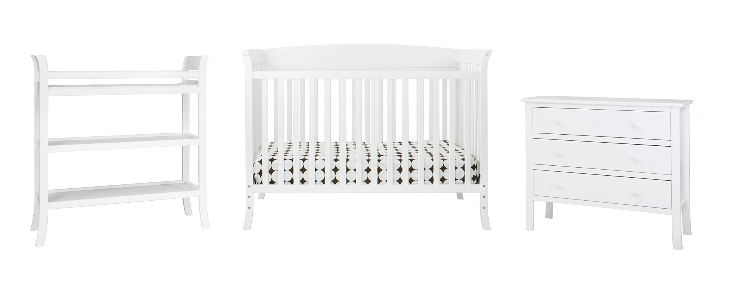 DaVinci Tyler 5-Piece Nursery Set Two Boxes, White