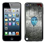 Slim Protector Shell Hard Case Cover for Apple iPod Touch 5 Blue Balloon Street Art Wall Grafiti Drawing / STRONG