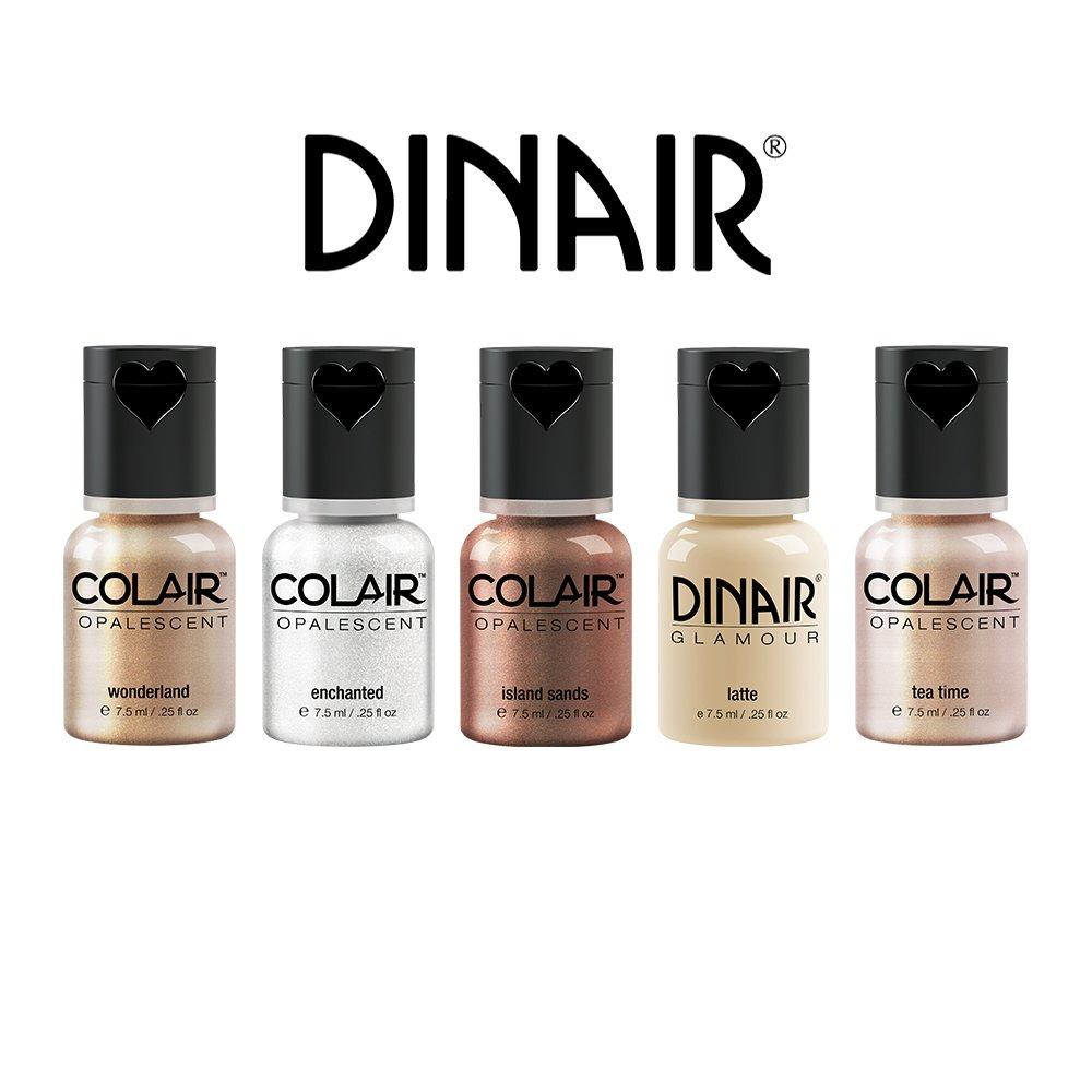 Dinair Airbrush Makeup | 5pc Strobing ( Highlight, Contour) Collection Set 1/4 oz.