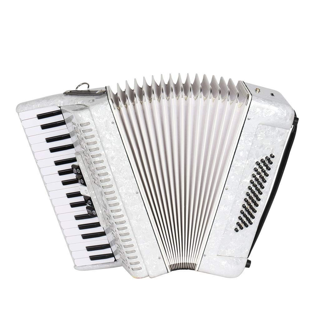 Accordion Maple Wood Professional Adults Accordion 34 Keys 48 Bass with Case Straps Gloves High Grade for Band Performance Beginners Students Kids Educational Teaching Accordion Music Instruments by Ybriefbag-Musical Instruments