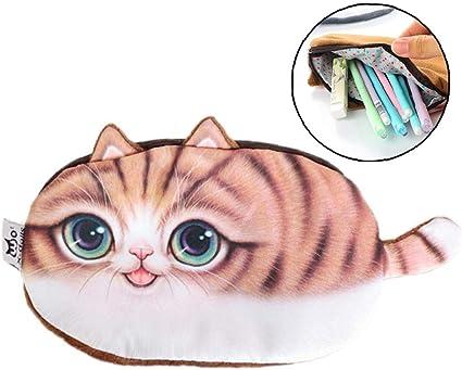 Caja de lápiz de la escuela de franela gato Suministros caja de lápiz linda de la escuela Bts papelería Estuches regalo lápiz bolsa materiales escolares estudiantiles: Amazon.es: Oficina y papelería