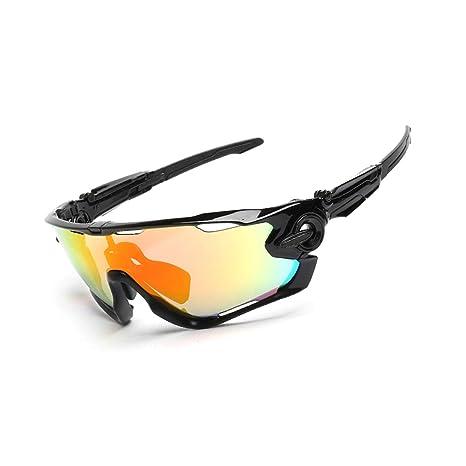 db0467b8e9b3 EoCot Men and Women Three-Piece Goggles Polarized Sunglasses Outdoor Riding  Glasses Black