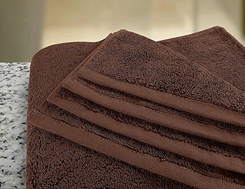 Utopia Towels Soft Cotton Machine Washable Extra Large (35-Inch-by-70-Inch) Bath Towel, Dark Brown