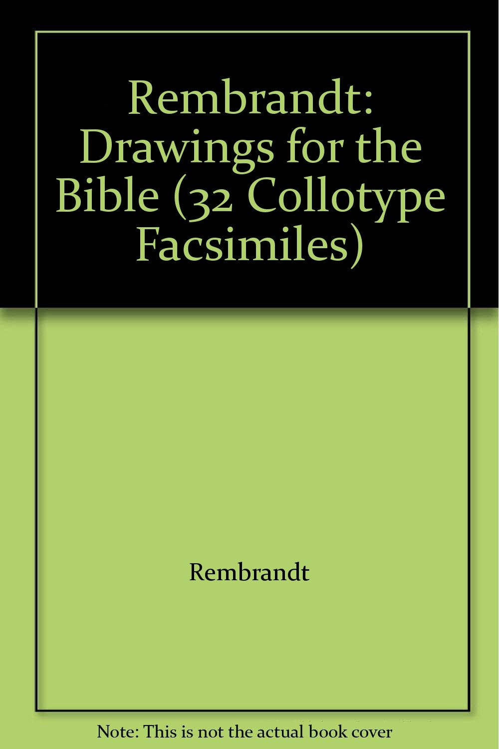 rembrandt drawings for the bible 32 collotype facsimiles
