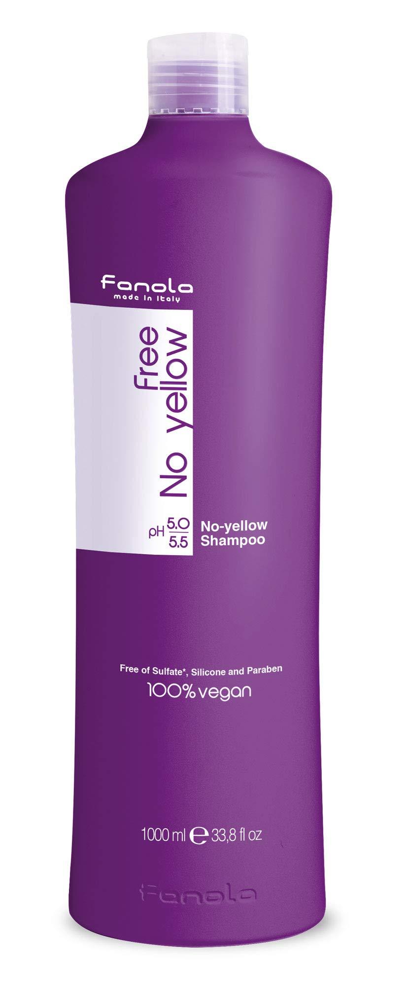 Fanola Free No Yellow Vegan Shampoo, 1000 ml