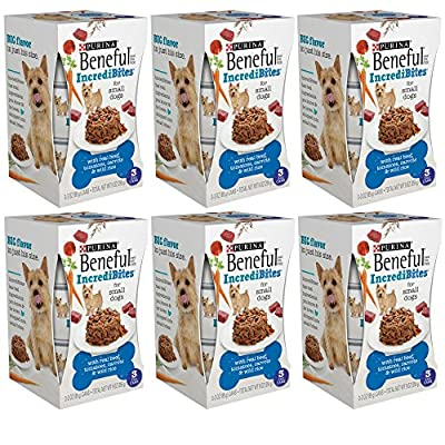 Purina Beneful IncrediBites with Real Beef, Tomatoes, Carrots & Wild Rice Dog Food 18-3 oz. Cans for Small Dogs 6 Pack