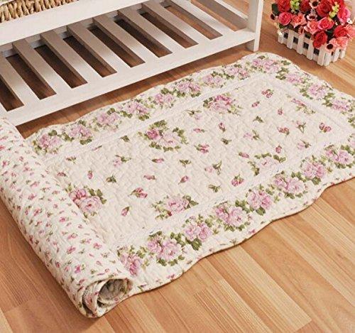 Ustide Rustic Rose Flowers Area Carpet Home Decor Cotton