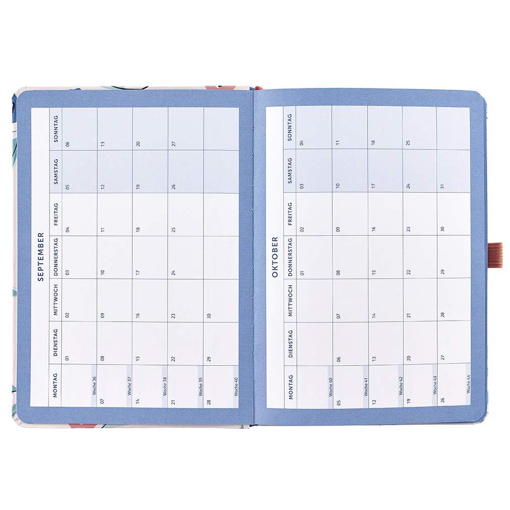 A5-Planer mit zwei Terminpl/änen und Steckf/ächern DEUTSCH Busy B Terminkalender 2020 f/ür Vielbesch/äftigte mit Blumen