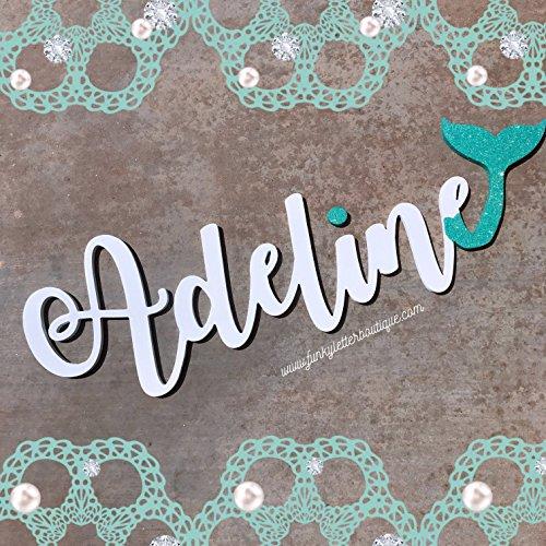 Mermaid Glitter Wooden Letters Party Décor 1 5 Letters Buy Online